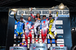 UCI Mountain Bike World Cup Overall Series Winners: Monster Energy's Josh Bryceland 1st, Troy Brosnan 3rd and Sam Hill 4th