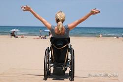 wheelchair user On the beach