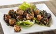 Nirvana Kitchen sample vegan dish - Lemongrass Tempeh Laab