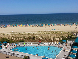 The ocean view from 601 Harbour House, Sea Colony, Bethany Beach, Delaware, which was July's most viewed Coastal Delaware Real Estate Listing.