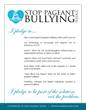 Stop Pageant Bullying Pledge