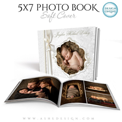 5x7 Soft Cover Photo Book Template | Snow Babies