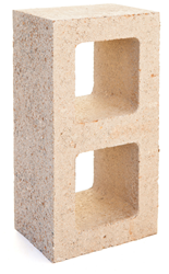 Watershed Block - low cement masonry block with the appearance of natural stone.