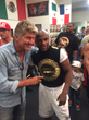 Robin's Jean Founder & Designer Meets Boxing Champ Flloyd Mayweather Jr.