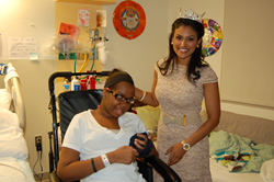 Miss America 2014 Nina Davuluri, the National Goodwill Ambassador for Children's Miracle Network Hospitals, visited patients at PSE&G Children's Specialized Hospital and delivered Blizzard® Treats during the ninth annual Dairy Queen® Miracle Treat Day