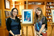 Sarah Webb (on right), winner of L. Ron Hubbard Illustrators of the Future Contest now also winner of the Hugo award as best fan artist.