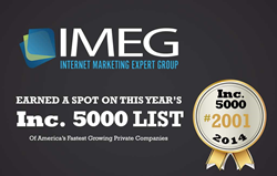 IMEG, a digital marketing agency based out of Sevierville, Tenn., was recently named among the fastest-growing private companies in America by Inc. Magazine.