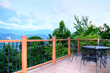 The private deck at the brand-new Condo Greystone House offers unbeatable views of downtown Gatlinburg