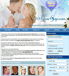 10YearGap.com - The best dating site for younger women dating older men