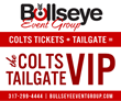 Bullseye Event Group Kicks Off Colts VIP Tailgate for Indianapolis Colts Monday Night Home Opener - Tickets Available Now