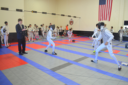 The Bay Cup Y14 Men's Foil Fencing Tournament on August 24, 2014 at Academy of Fencing Masters