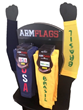 ARMFLAGS Merchandize-Display for University Bookstores & Spirit-Wear Retailers