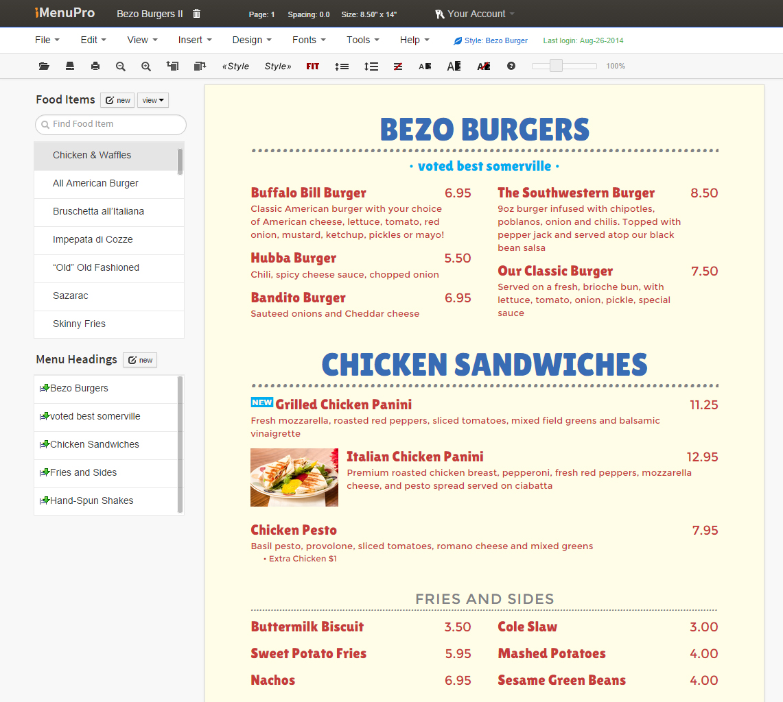 imenupro com brings affordable menu design to every restaurant with new menu app