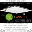 New Low-Profile Square LED Recessed Fixture from LED Waves