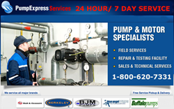 Pump Express Services  24 Hour/ 7 Day Service  Call 1-800-620-7331