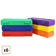 Set of 6 Large Pencil/Ruler Boxes, $36.99