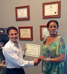 Monalisa Morganberry-Kudritzki Recieving Invisablend Certification