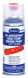 Chevy Orange 2K AeroSpray Ceramic Engine Paint