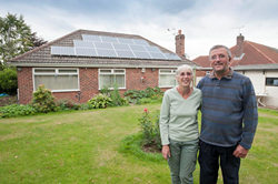 Happy solar customers