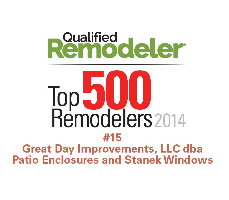 Superior Great Day Improvements, Parent Company Of Patio Enclosures® Brand Sunrooms  And Stanek™ Brand Vinyl Windows, Named To Qualified Remodeleru0027s Top 500 Of  2014
