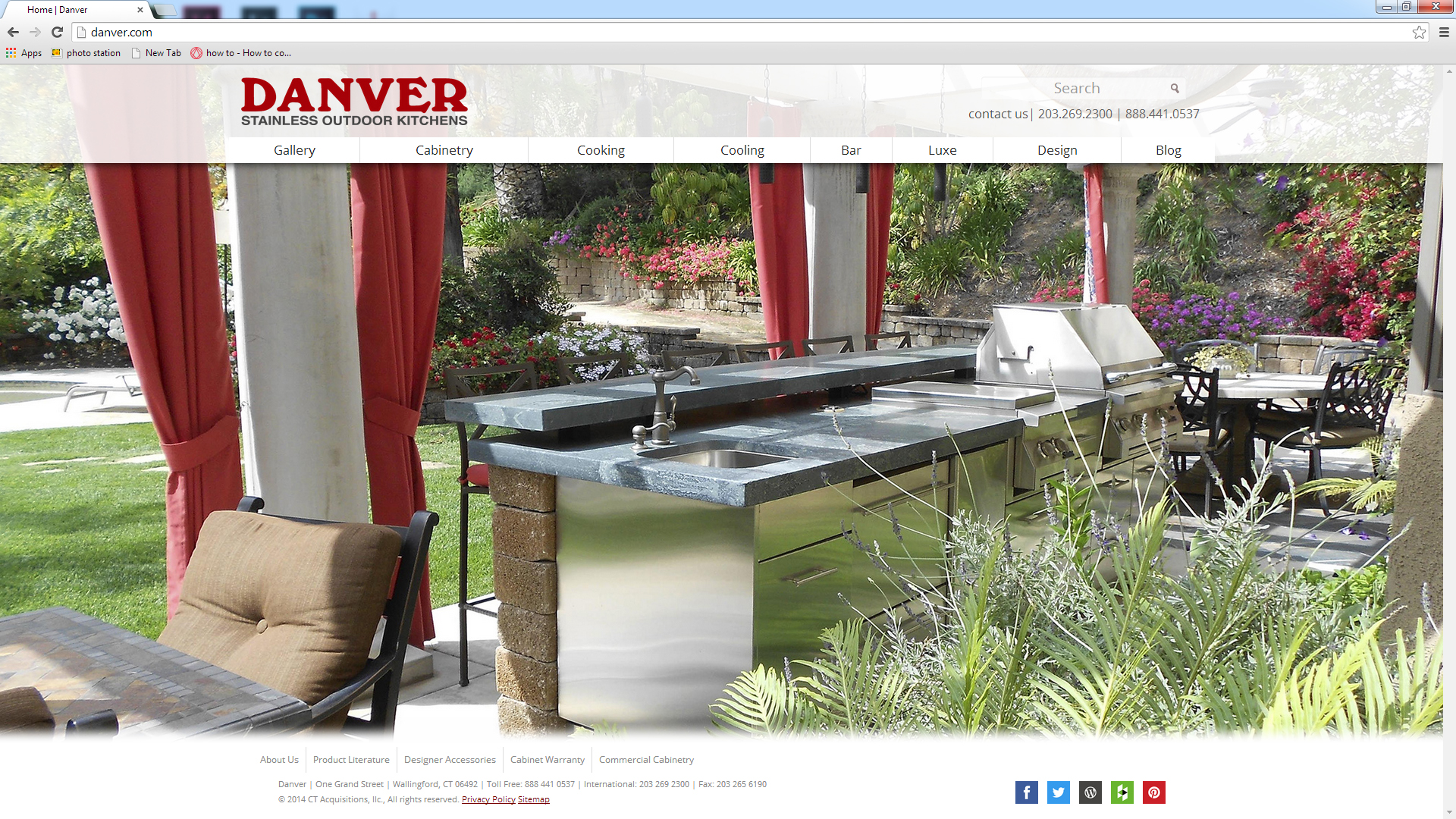 Danver Stainless Outdoor Kitchens Launches Redesigned Website