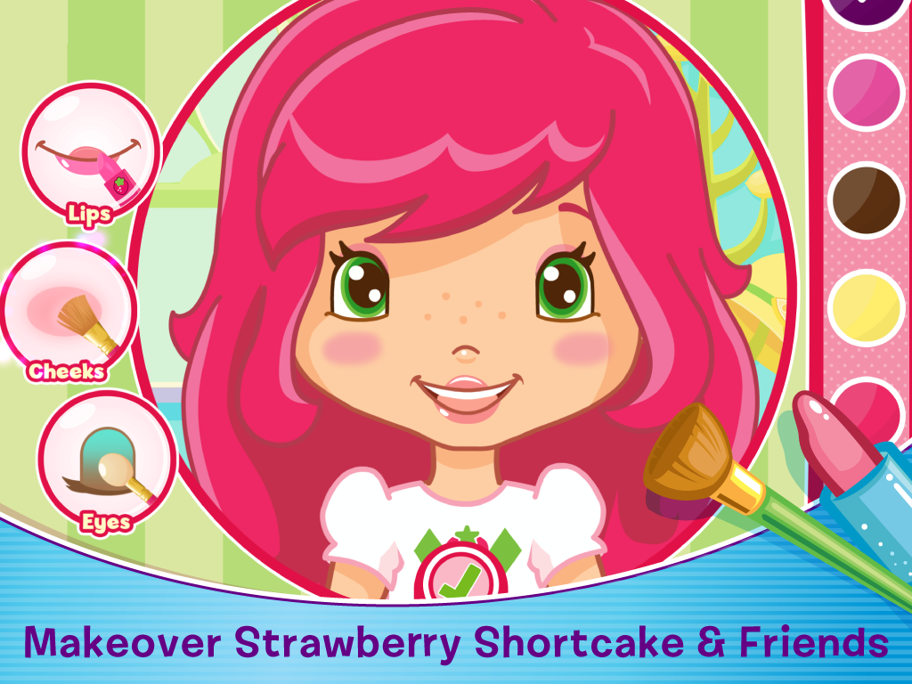 Strawberry Shortcake Berry Beauty Salon Kids Game