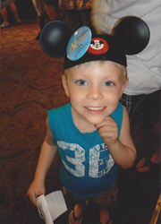 Caleb on a trip to Disney World, thanks to The Rainbow Connection