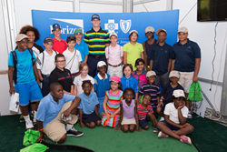 Morgan Hoffmann with First Tee Kids