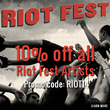 Riot Fest Promotion- Iconic Shop