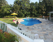 Smithtown Travertine Pool Patio