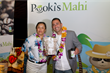 Producer Arsen Bagdasaryan enjoying Pooki's Mahi's 100% Kona Coffee Single Serves