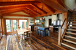 A full timber frame home, business, or timber frame addition can add even more character with reclaimed and antique timbers.