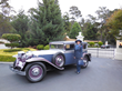 Dr. Elisa Stephens with 1931 Ruxton Sedan, winner of third in class.
