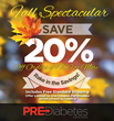 PreDiabetes Centers Online Store Launches Fall Savings Event