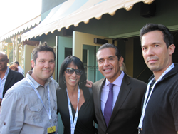Brian Dill and family with former Los Angeles Mayor Antonio Villaraigosa at last years Breeders Cup