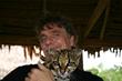 Author Matt Pallamary and a jungle friend