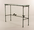 Giacommetti, Console aux Oiseaux, Bronze and Glass