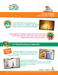 Page 1, Creativity Express 'On My Own' Emphasis Lesson activity