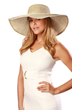 white and gold resort hat