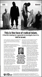 New ad by Rabbi Shmuley Boteach Targets ISIS Executioners of American Journalist James Foley, Shames UN Secretary General Ban Ki-Moon
