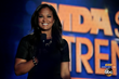 TV host and champion boxer Laila Ali introduces rock band Fall Out Boy at the MDA Show of Strength Telethon, airing Sunday, Aug. 31 9|8c on ABC stations nationwide.