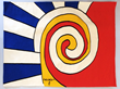 "Alexander Calder ""Les Trois Spirales"" Bicentennial Tapestry"