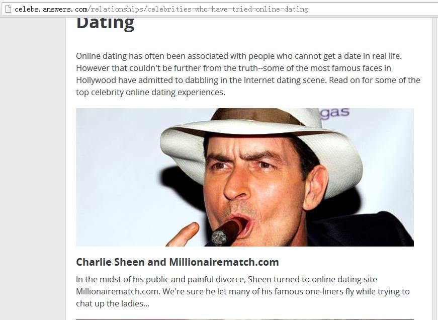 Celebrity online dating