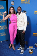 "Pop star sweethearts Jordin Sparks and Jason Derulo ""show their strength"" for families affected by muscle disease on the blue carpet at the 2014 MDA Show of Strength Telethon."