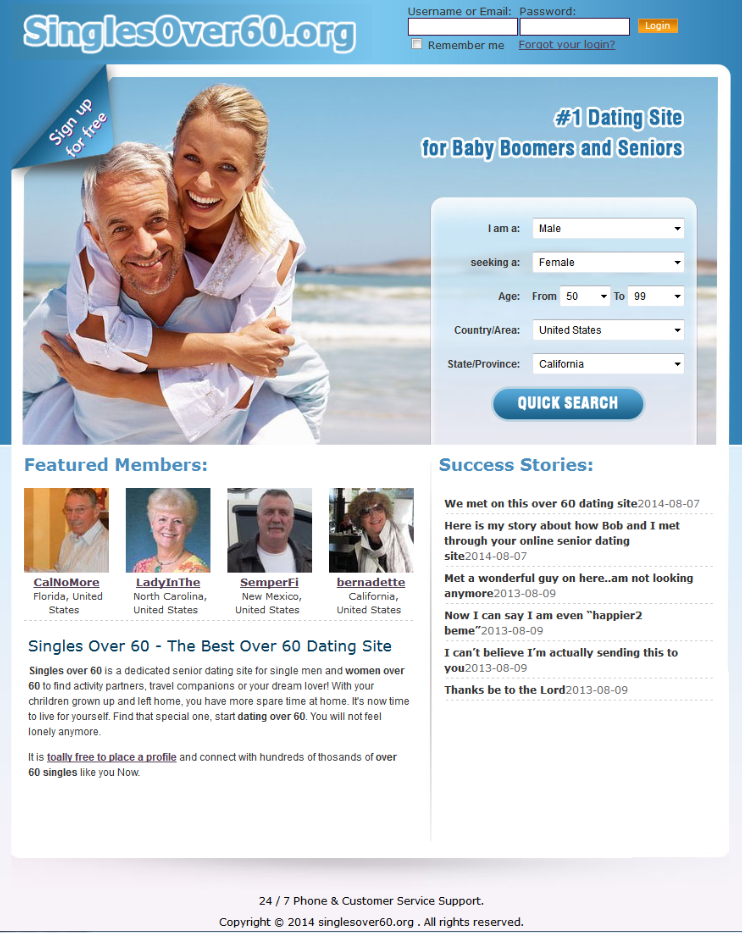 what is the best dating site for over 60