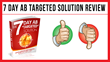 7 Day Ab TARGETED Solution: Review Examining Mike Shaun and Karen...