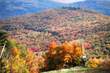 fall foliage view from mountain top