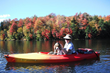 kayaking during the fall foliage