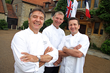 Grands Chefs Raymond Blanc and Gary Jones, and Master Pastry Chef Benoit Blin of Le Manoir aux Quat' Saisons