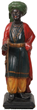 Standing carved cigar store figure of an Arabian (or Turkish) man wearing a turban, 38 inches tall (est. $7,500-$12,500).